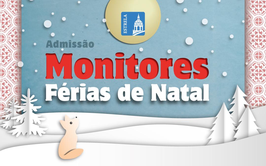 Admissão Monitores Férias de Natal